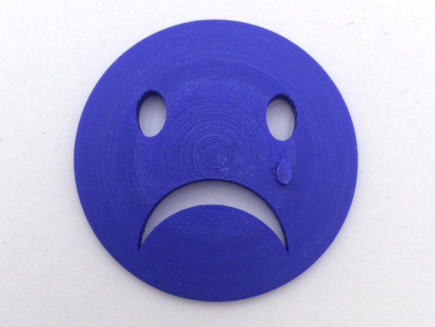 3D Printed Sad Face by loubie