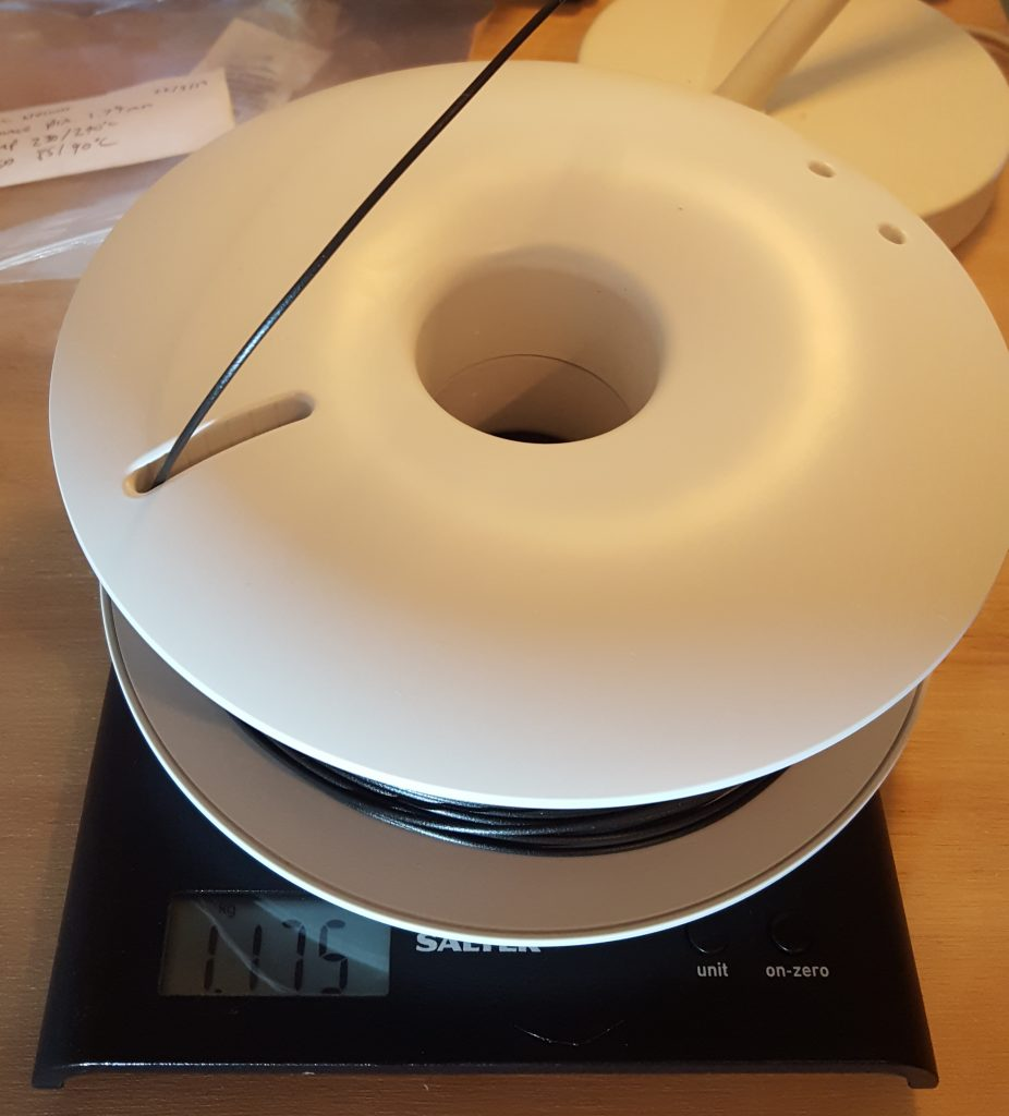 Calculating spool weight